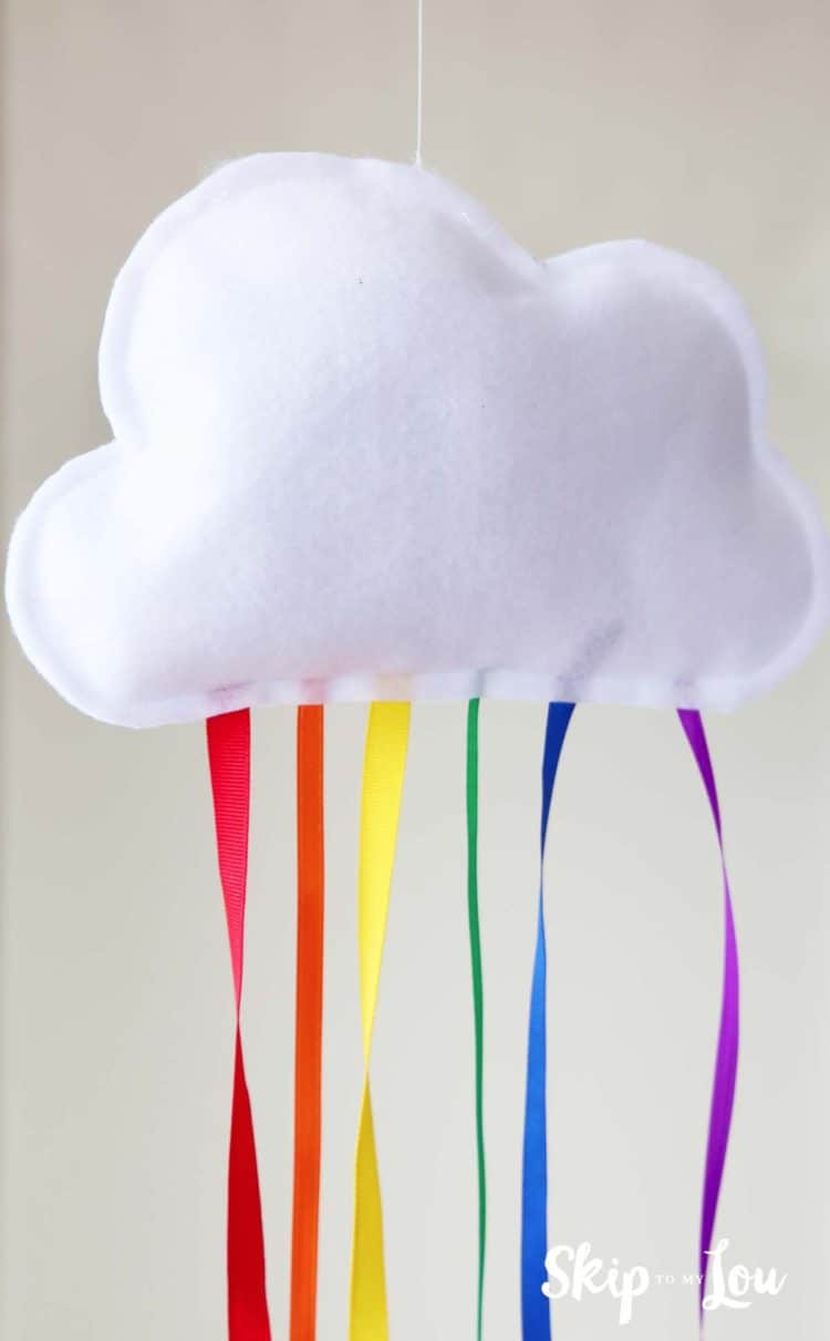 hanging rainbow cloud