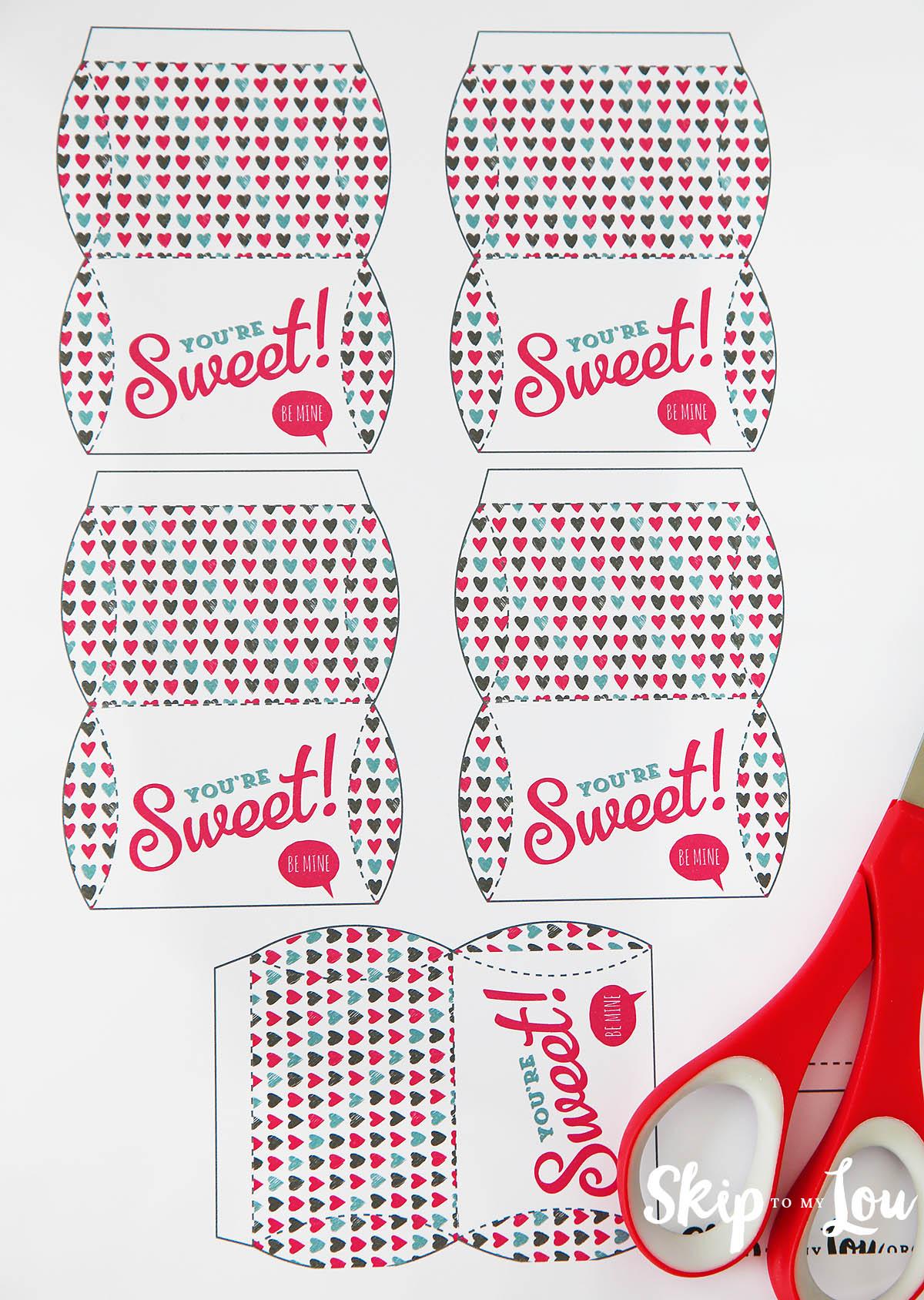 mini Valentine pillow boxes supplies