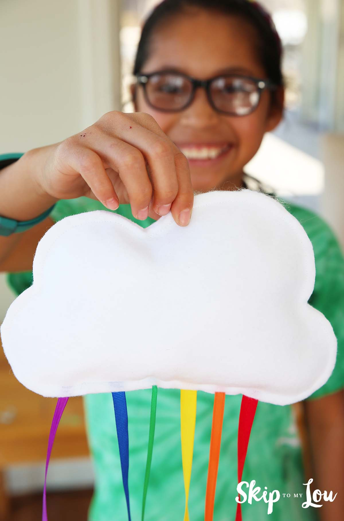 rainbow cloud mobile easy sewing project