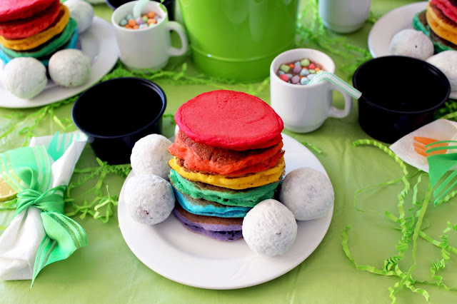 rainbow pancakes by Worth Pinning