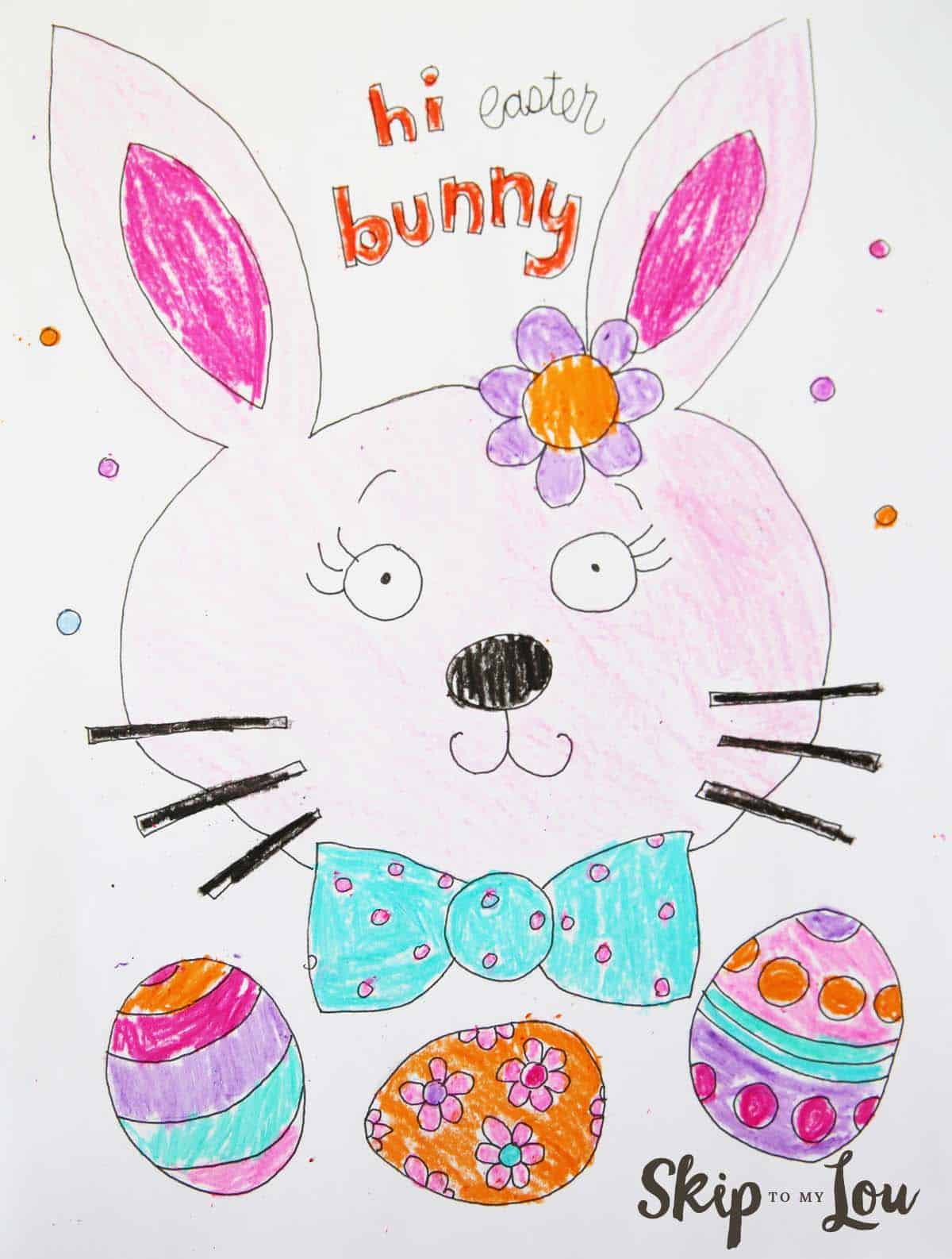 Cute Easter Coloring Page Skip