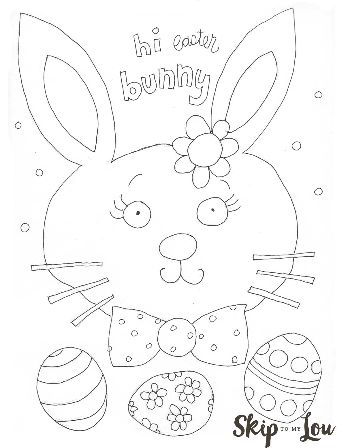 Easter Coloring Page Preschool