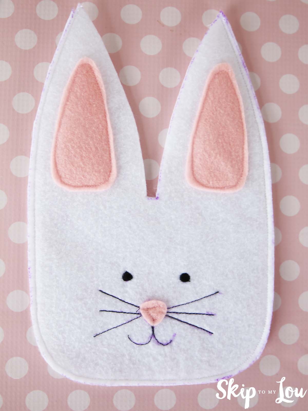 Felt bunny treat bag tutorial