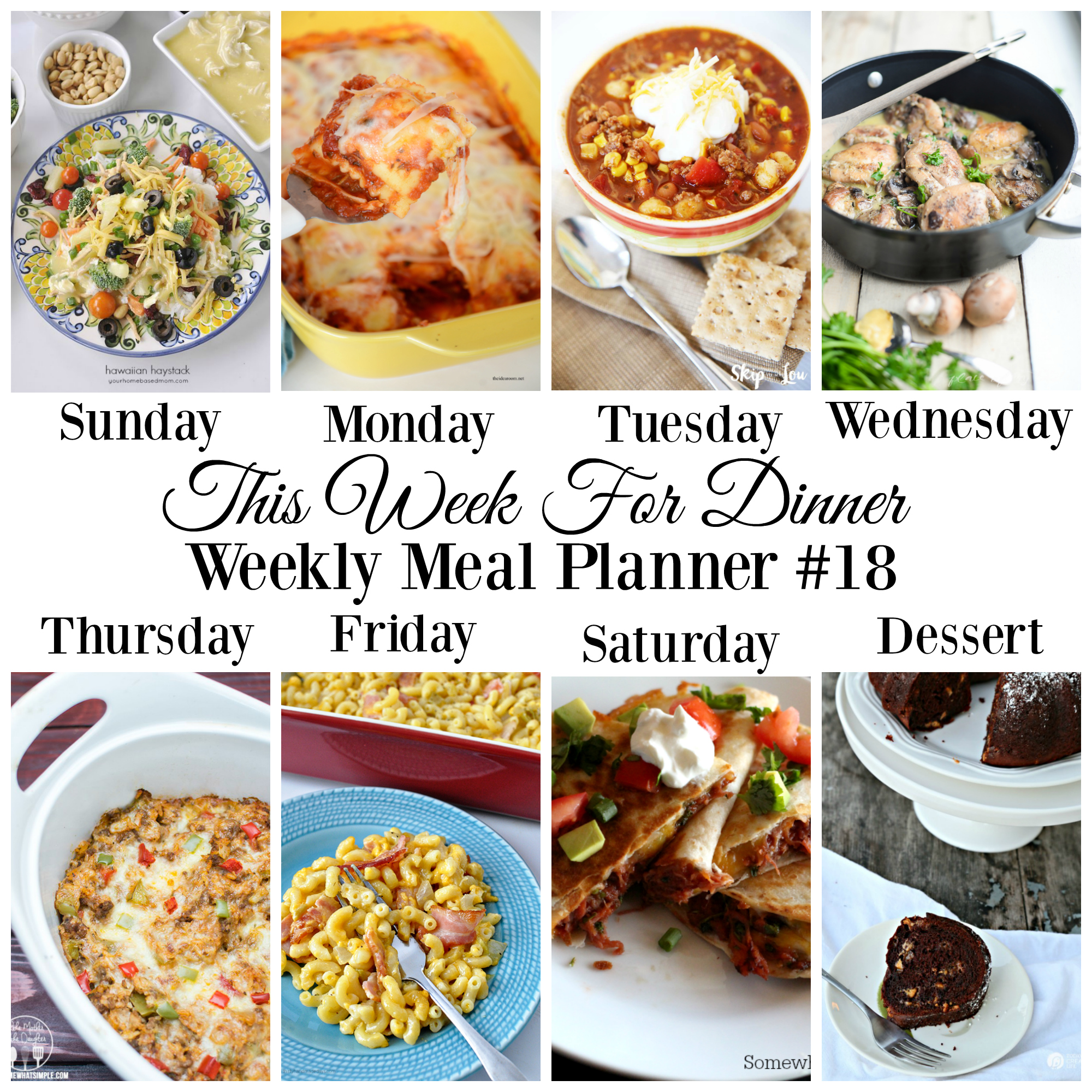 Meal planner 18