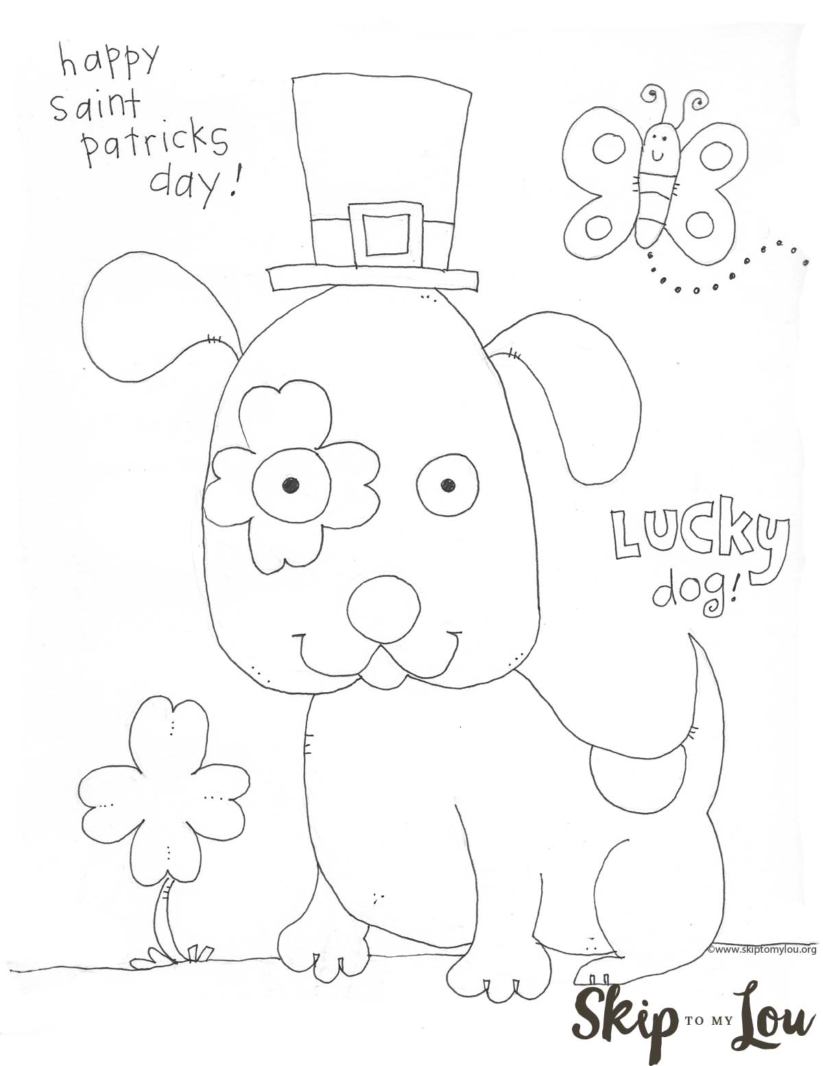 St Patricks Day Coloring Page preschool