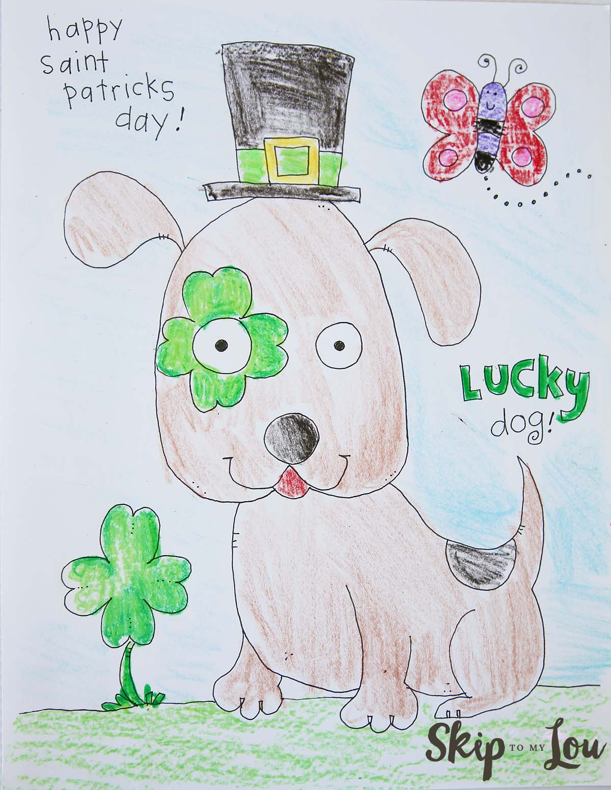 St Patricks Day Coloring sheet for little kids