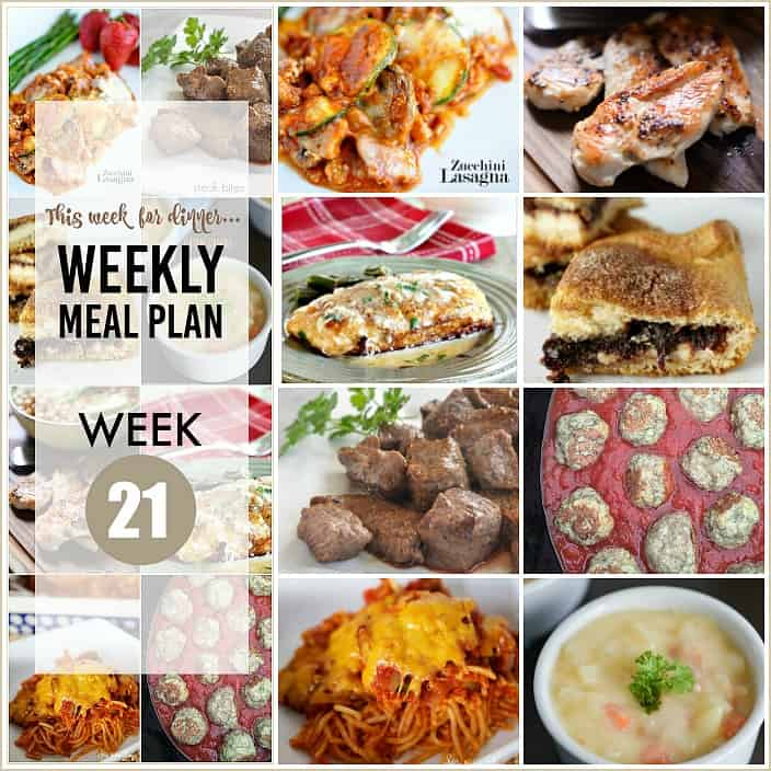 Weekly Meal Plan FB the36thavenue