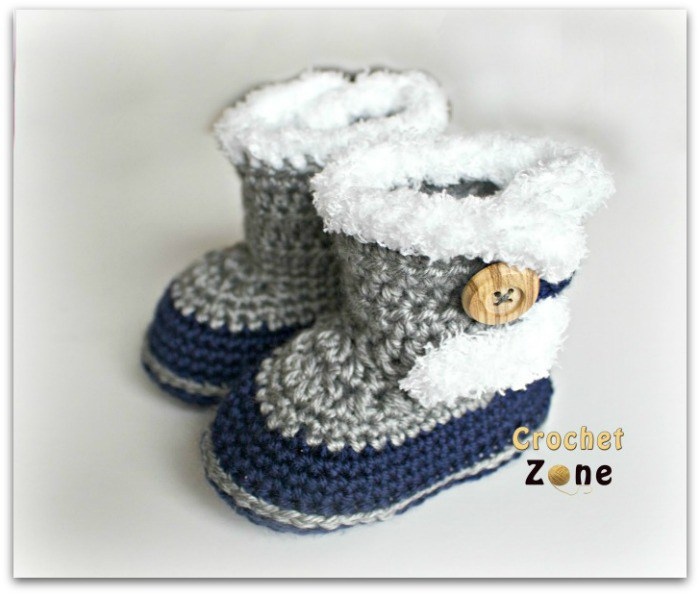 fur topped baby booties