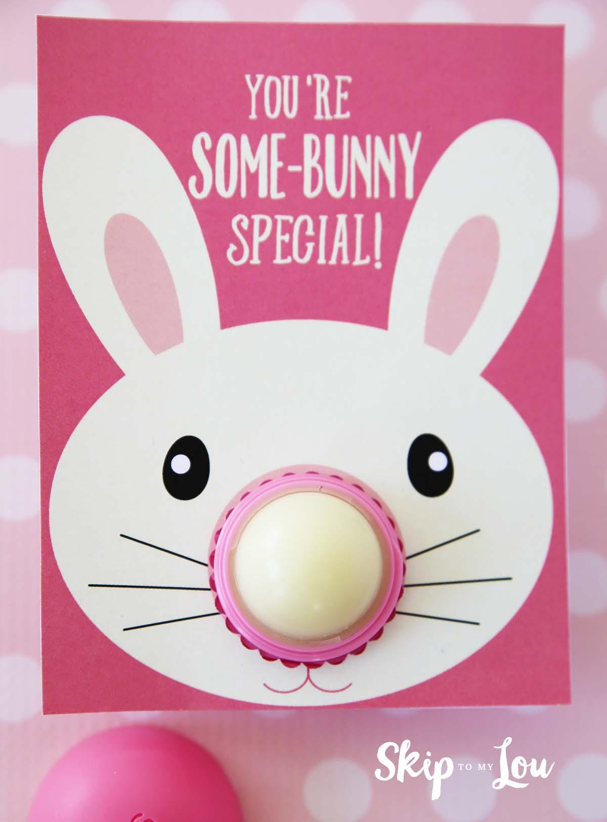 Bunny eos lip balm gift skip to my lou eos easter gift bunny eos lip balm printable negle Choice Image