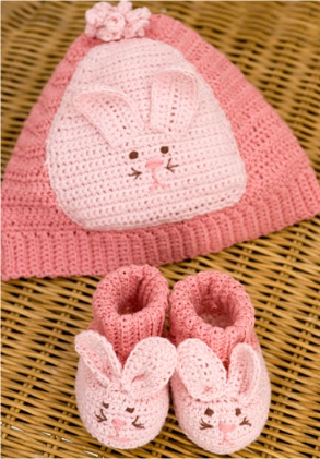 crochet bunny booties