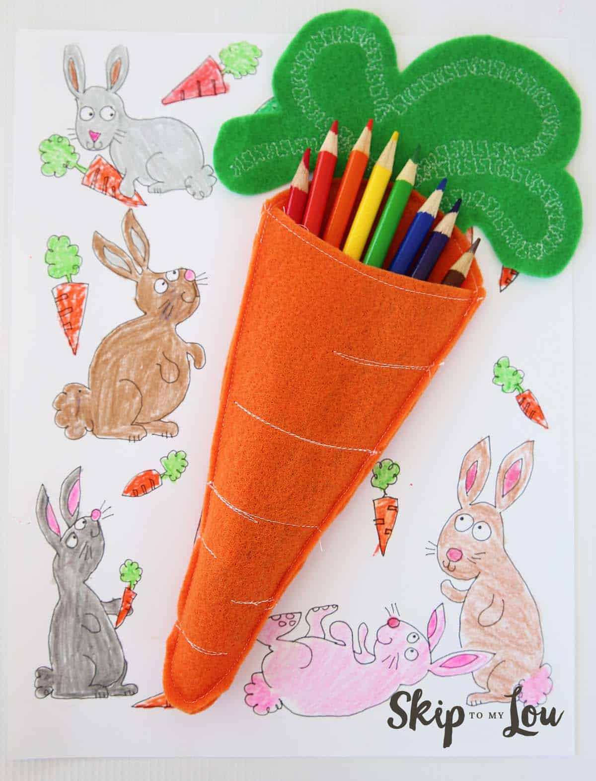 Felt Carrot Pencil Holders Skip