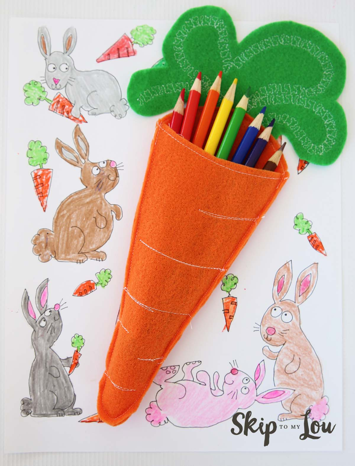 Bunnies Coloring Page Easter