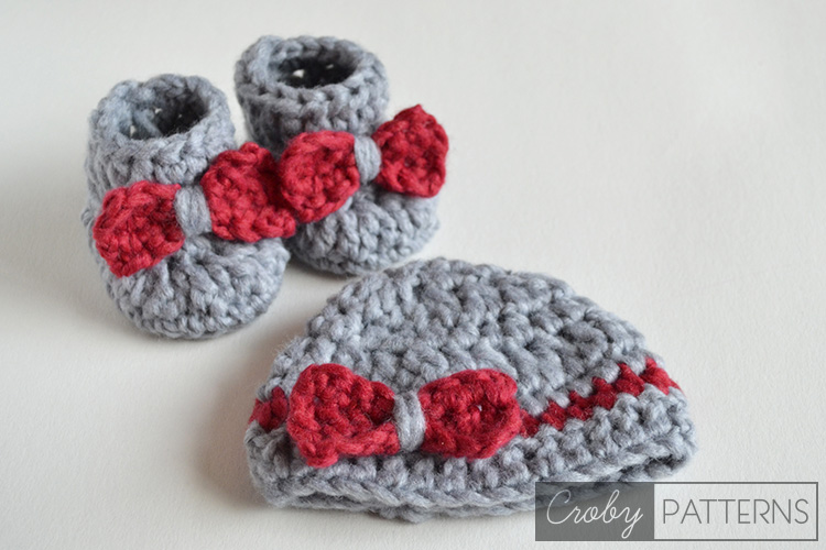 Crochet Baby Hat Booties Patterns Free : Free Crochet Baby Bootie Patterns Skip To My Lou ...
