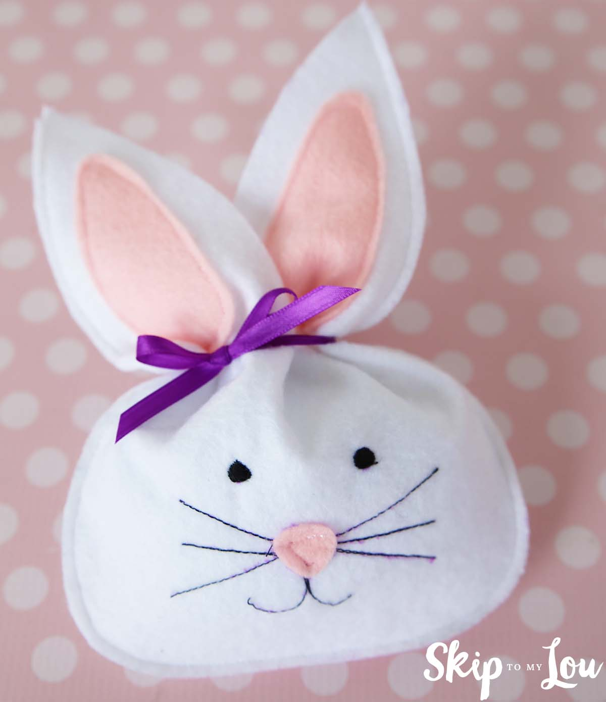 felt bunny treat bag pattern