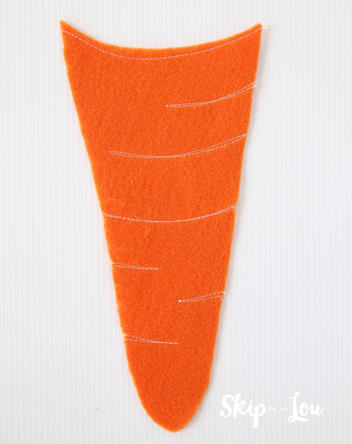 felt carrot pencil holder sewn details