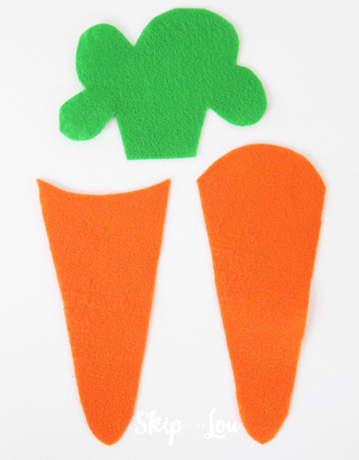 felt carrot pencil holder tutorial