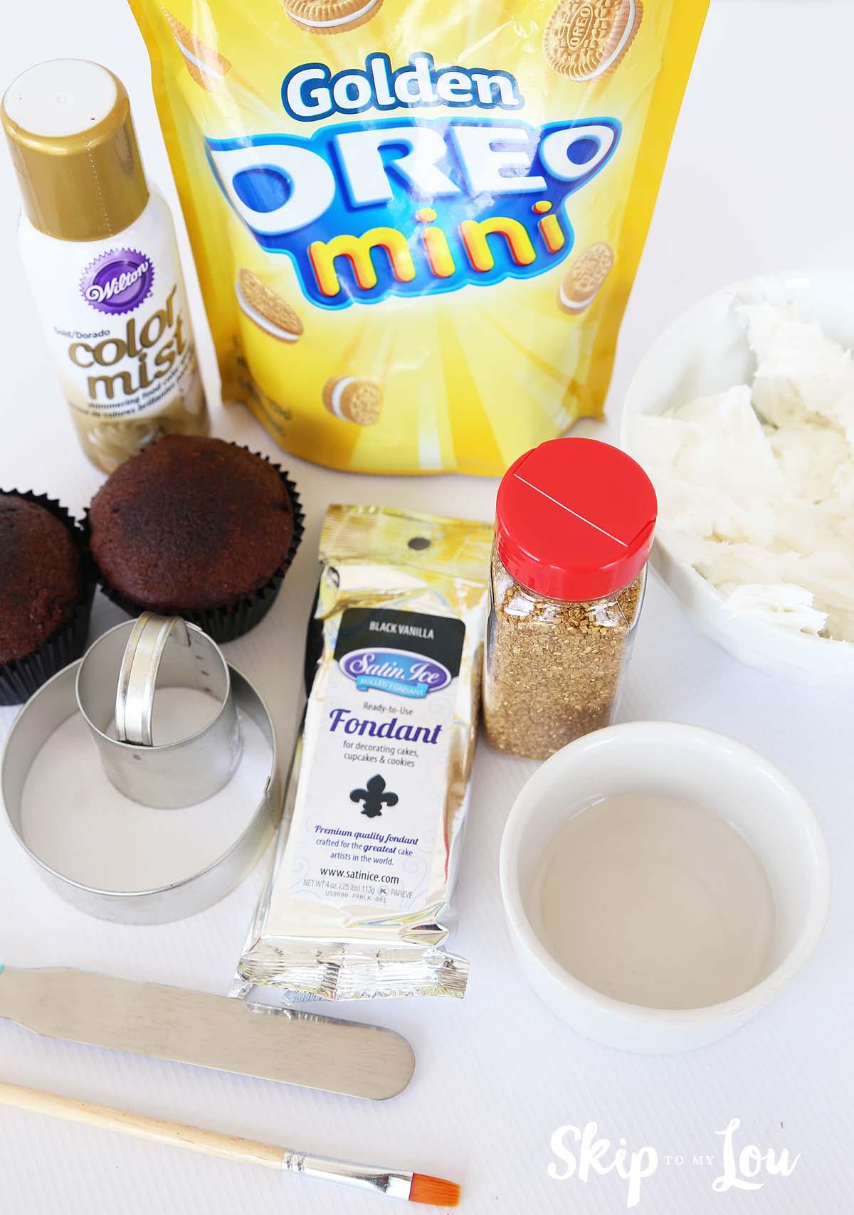 pot of gold cupcake supplies