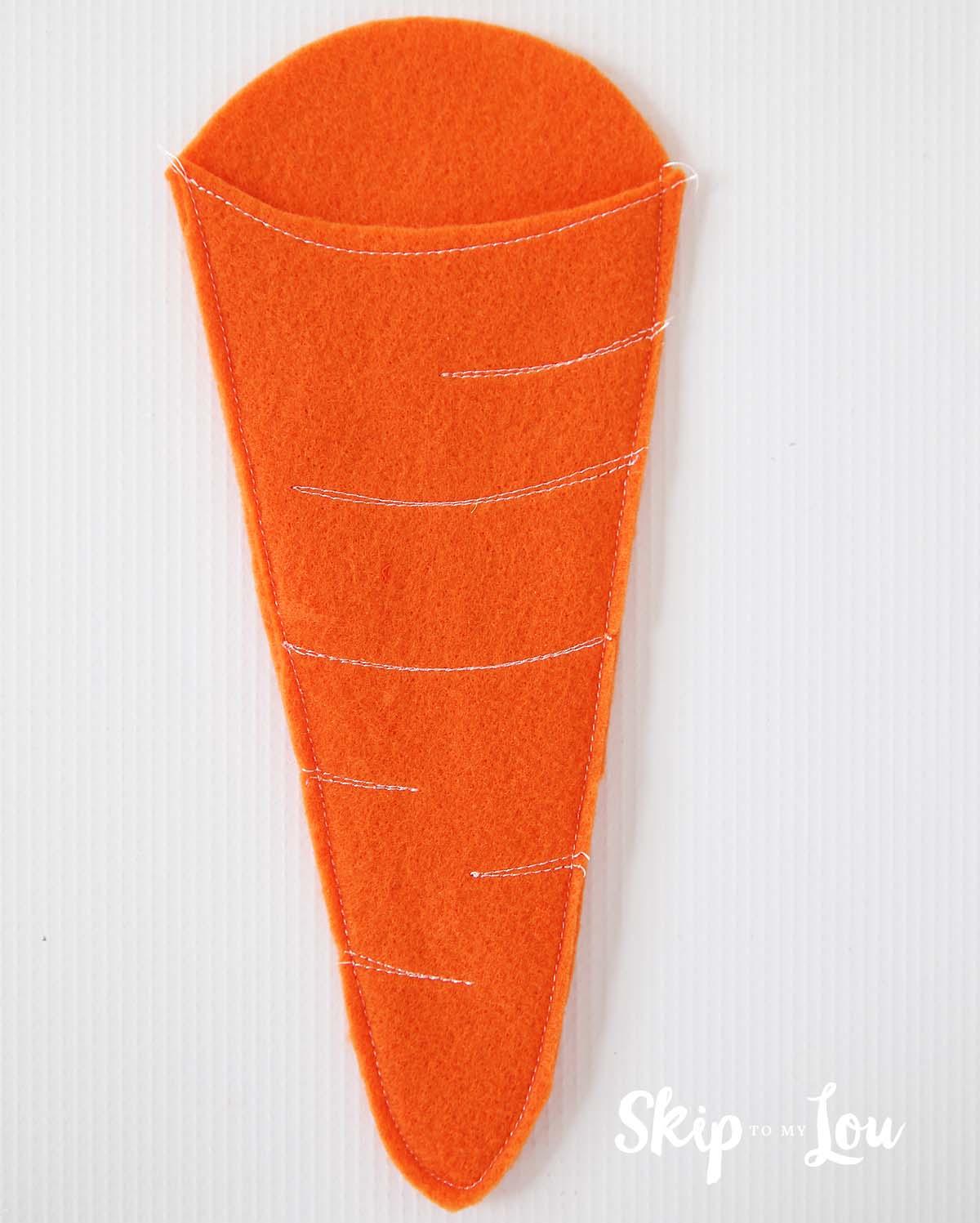 sewn felt carrot pencil holder