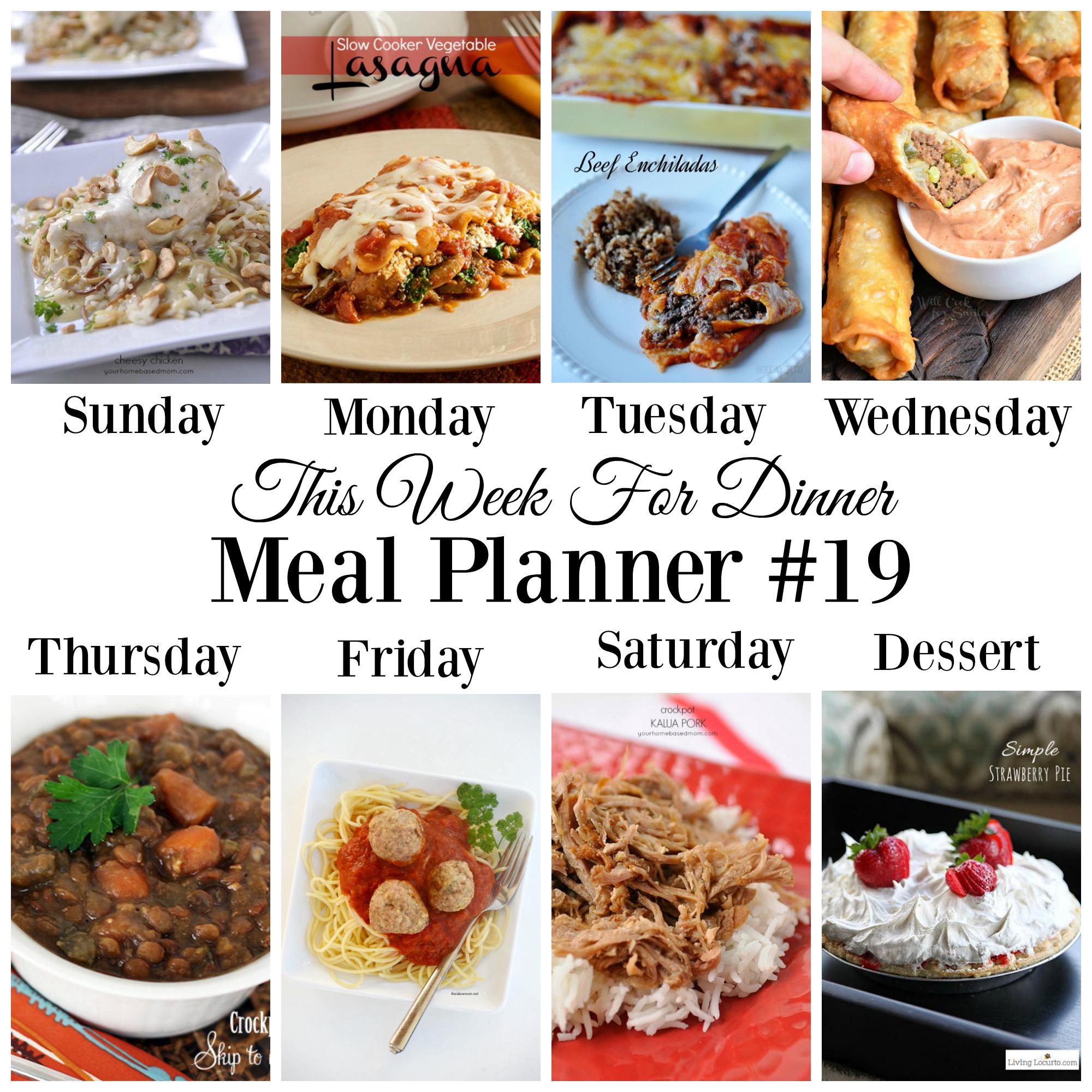 weekly meal planner #19