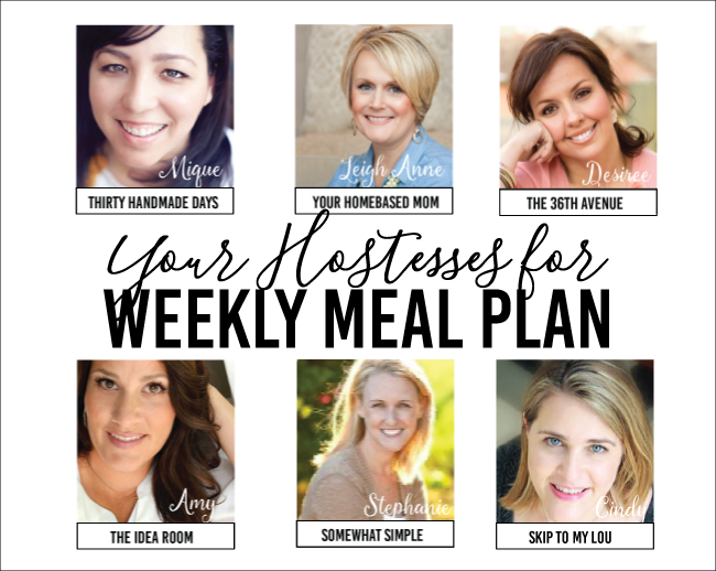 Weekly Meal Plan - Main Dish Recipes and Dessert.