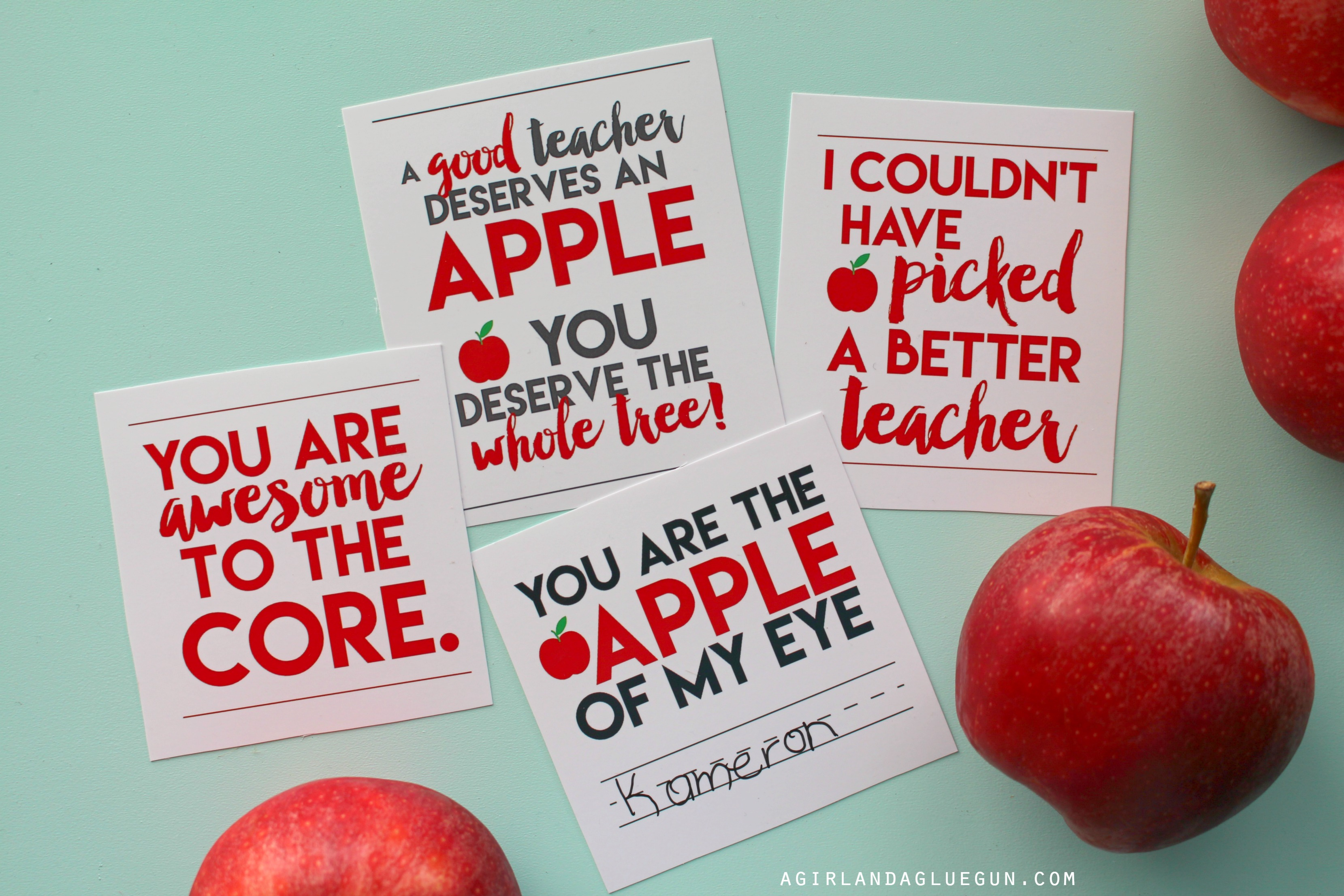 4 free printables for teachers