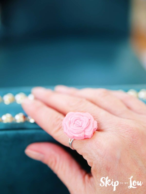 beautiful mother's day gift idea - diy pink floral jewlery ring