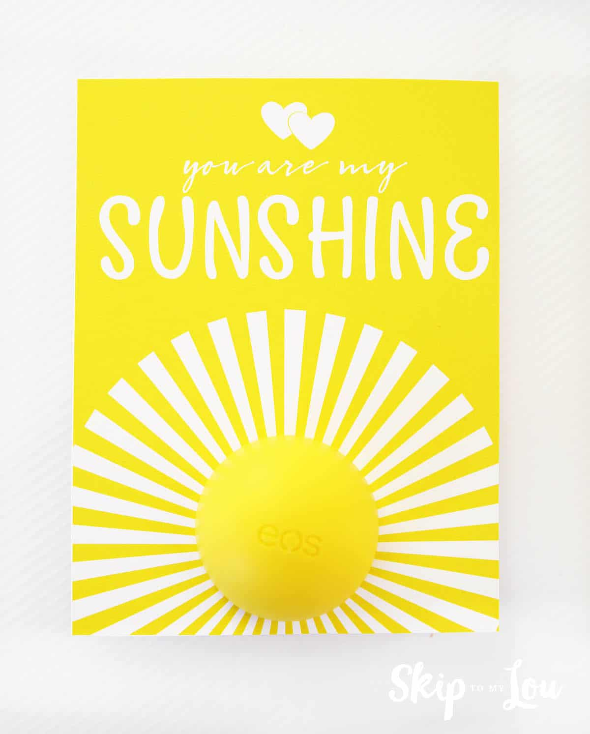 You Are My Sunshine eos Lip Balm