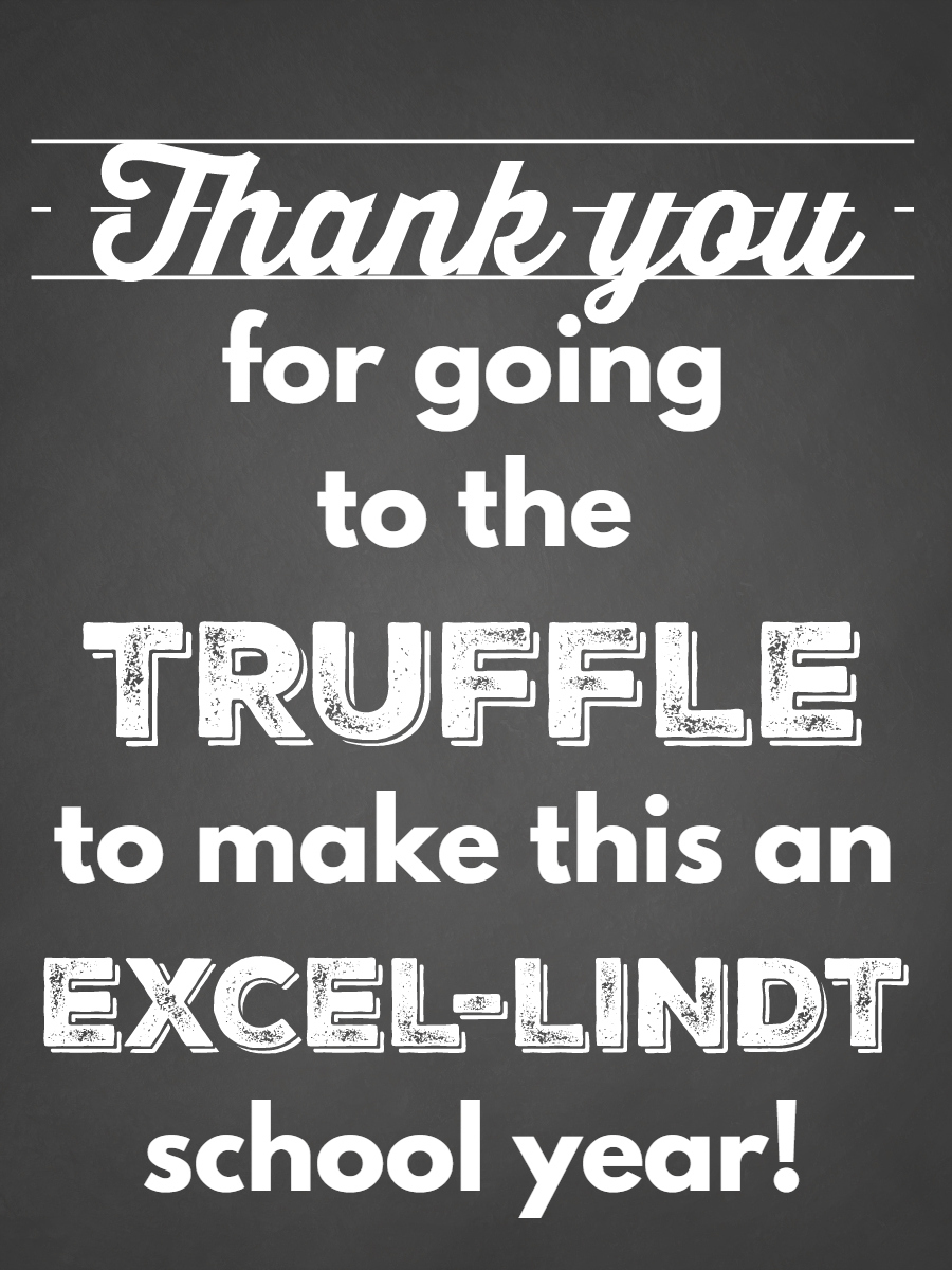 Lindt Truffles Teacher Appreciation Gift with Free Printable Gift Tag