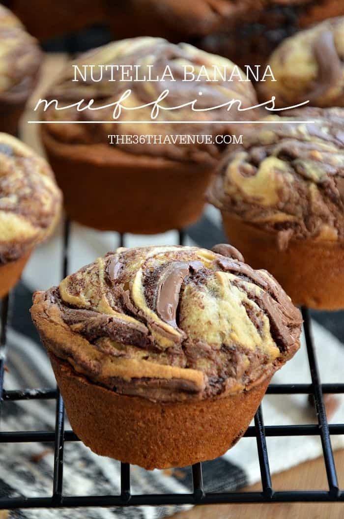 Recipes - Nutella Banana Muffin Recipe at the36thavenue.com These are so good!
