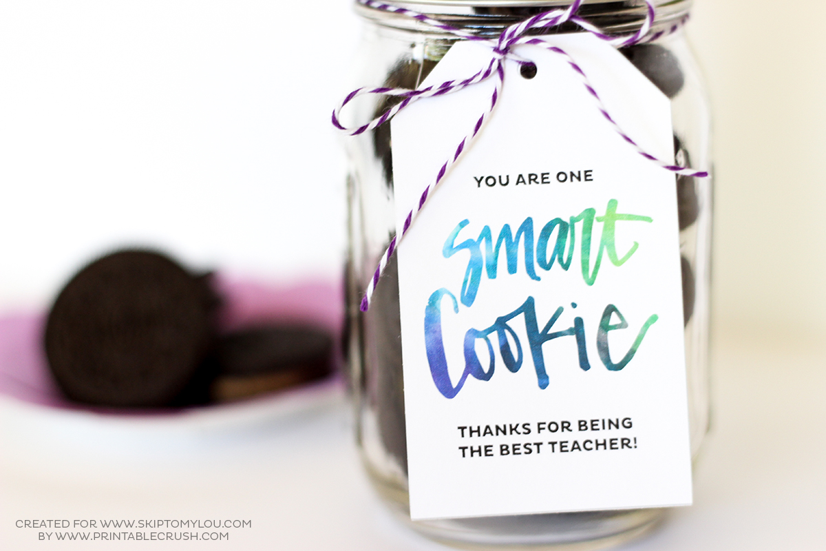 image regarding One Smart Cookie Printable identified as One particular Wise Cookie Instructor Reward Notion Miss out on Towards My Lou