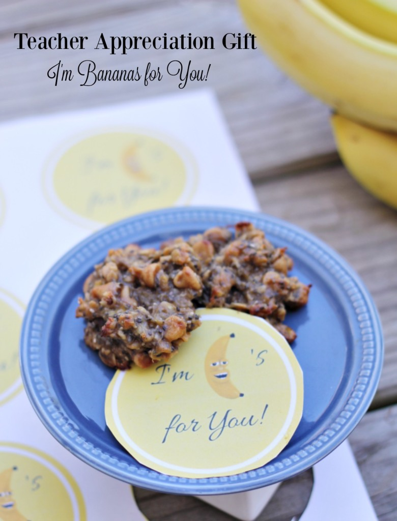 Teacher Appreciation Gift I'm Bananas for You Printable