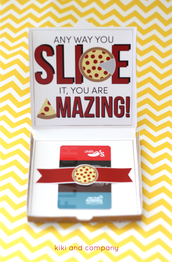 Teacher Appreciation Pizza Box Card From Kiki And Company Cute