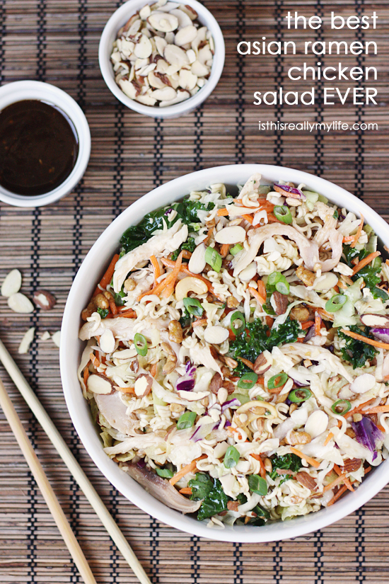The best Asian ramen chicken salad EVER