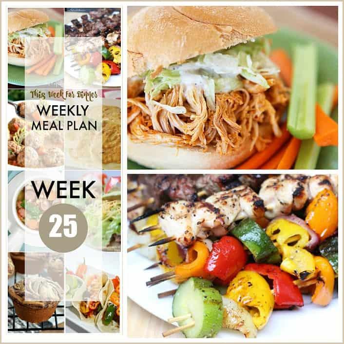 Weekly Meal Plan 25 FB