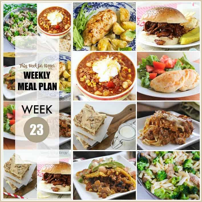 Weekly Meal Plan FB 23