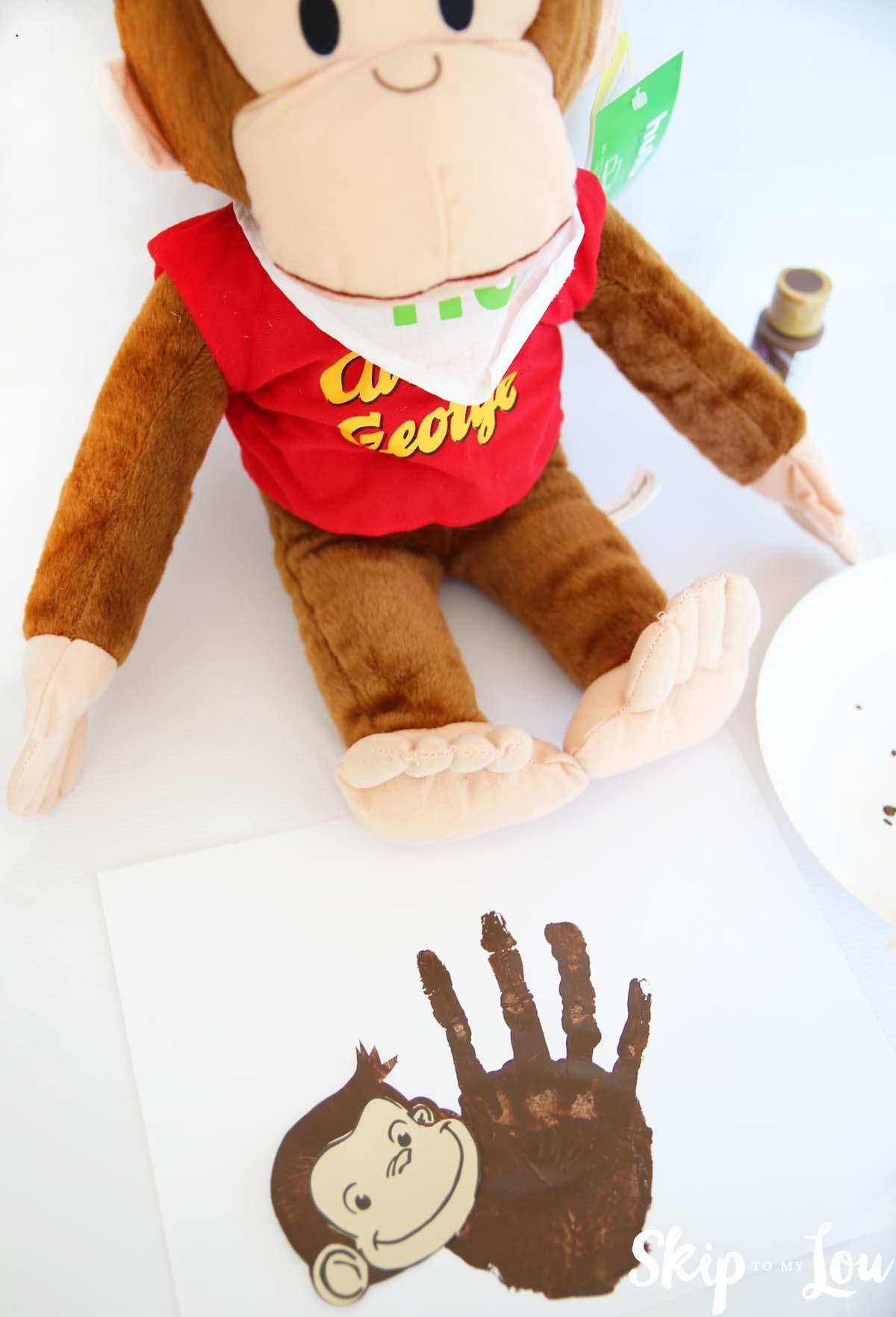 curious george handprint monkey craft idea