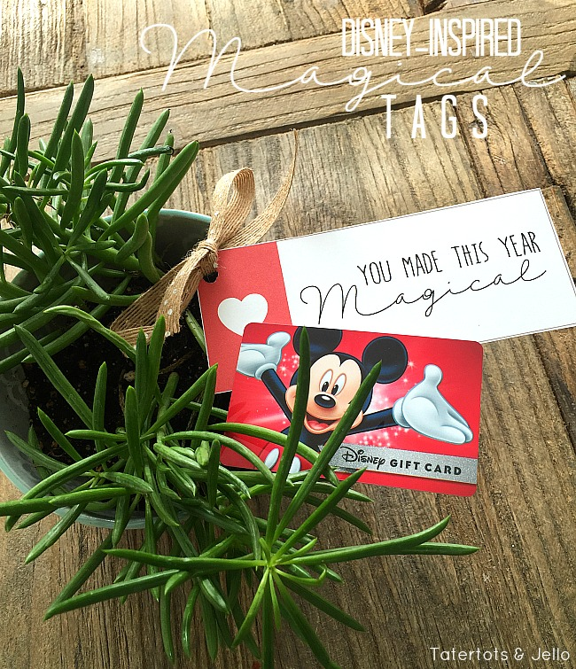 Disney-inspired magical gift tags