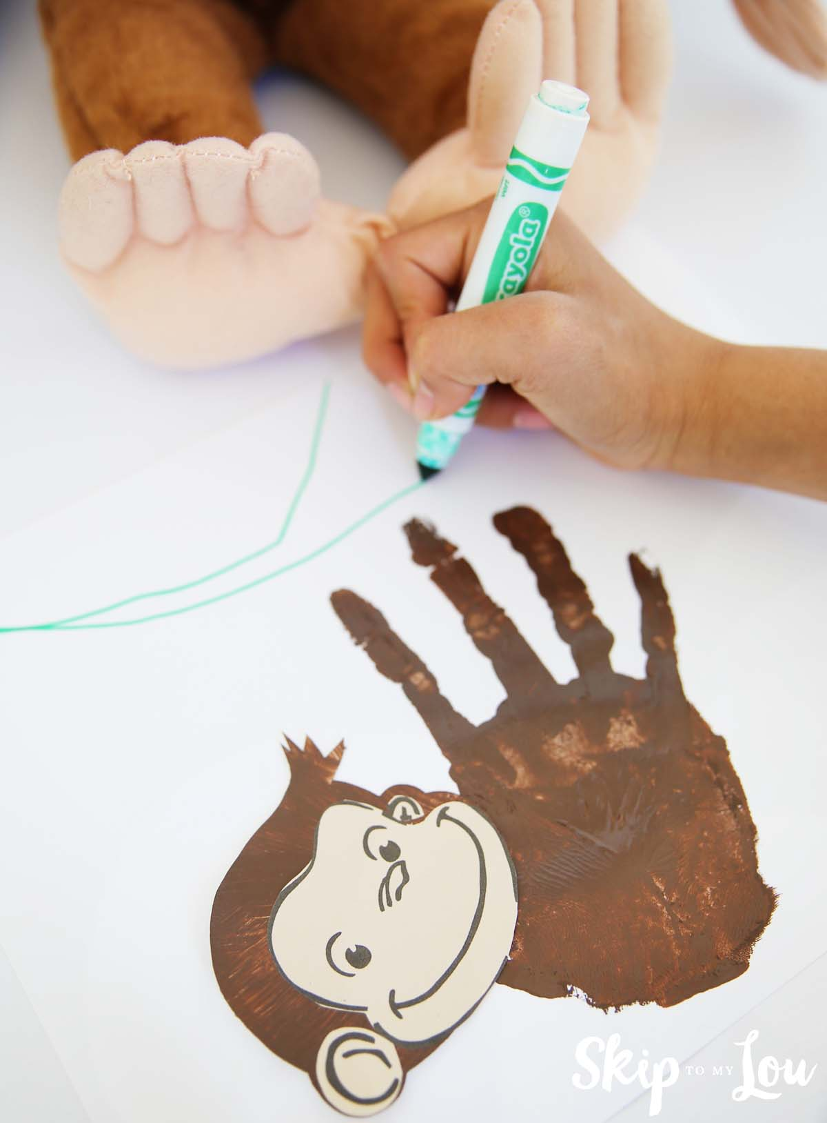 handprint monkey craft vines