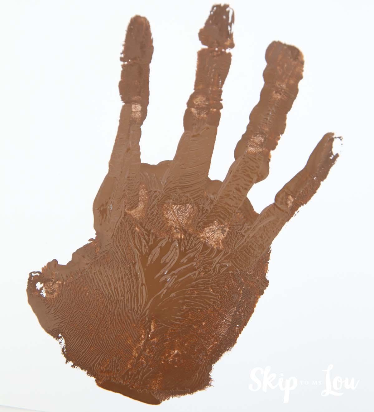 handprint monkey hand