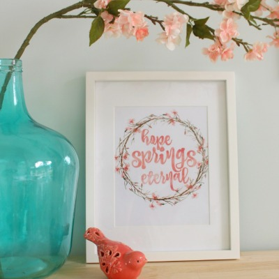 hope springs eternal free printable for spring by the happy housie for hop non-watermarked