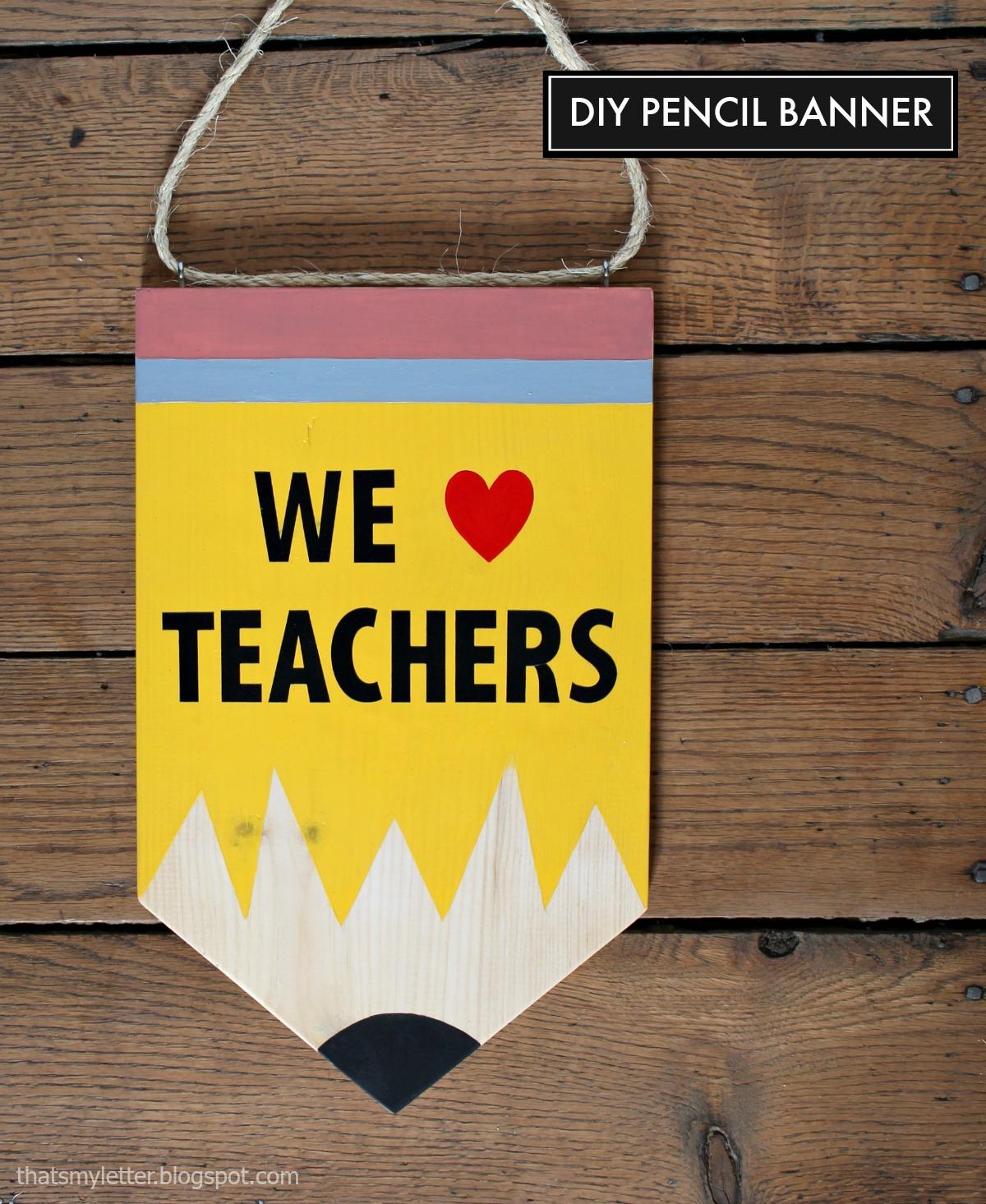 Classroom Decor Pencil Banner ~ Diy pencil banner skip to my lou