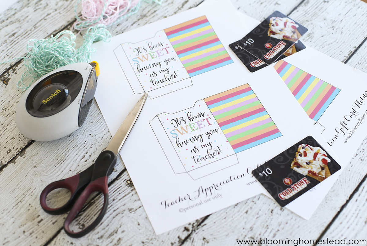 teacher apprecition printable supplies