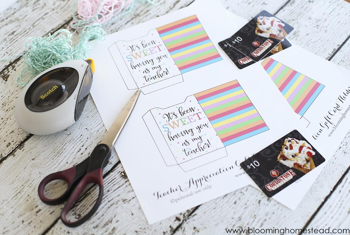 teacher apprecition printable supplies