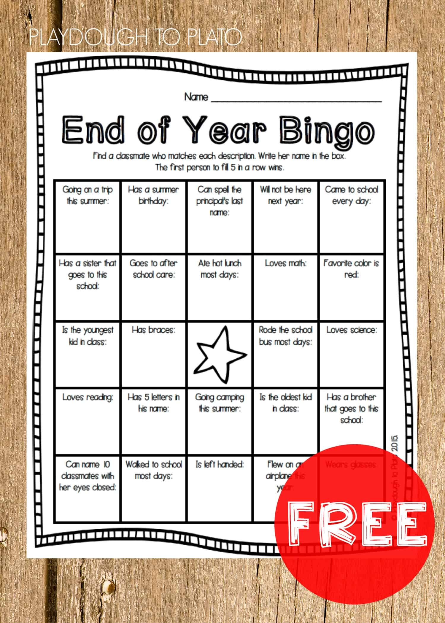 End-of-the-Year-Bingo