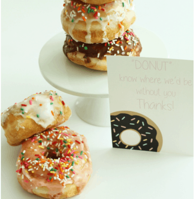 donut printable for teacher
