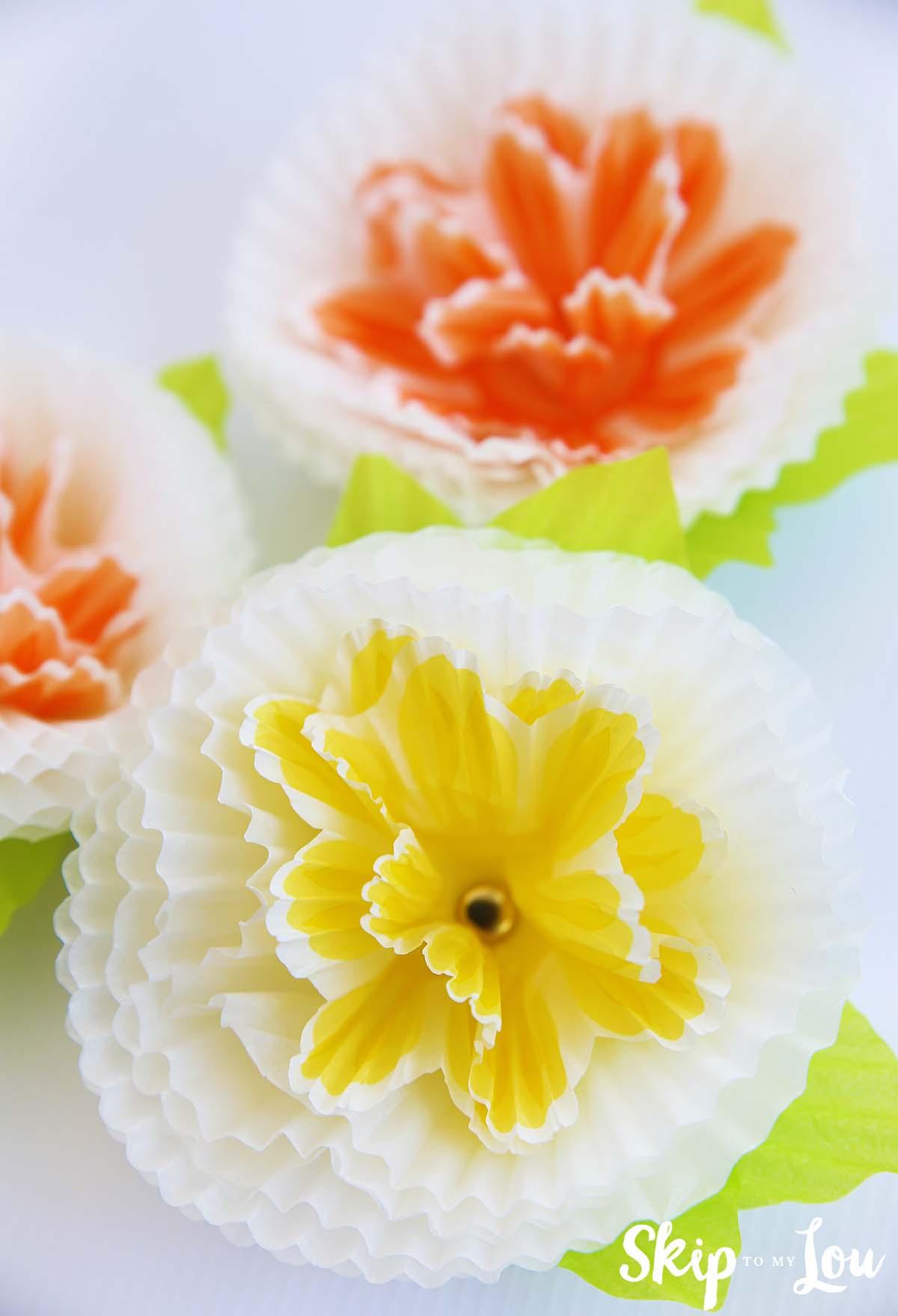 Cupcake Liner Flowers Skip To My Lou