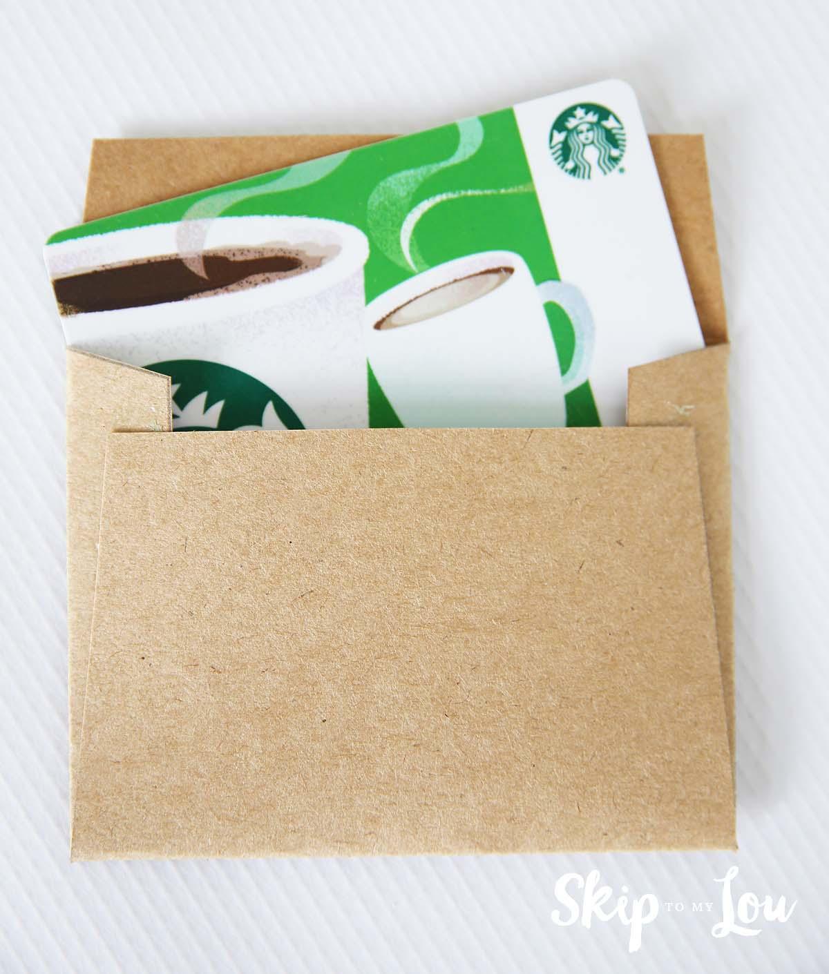 how to make teacher gift card holder