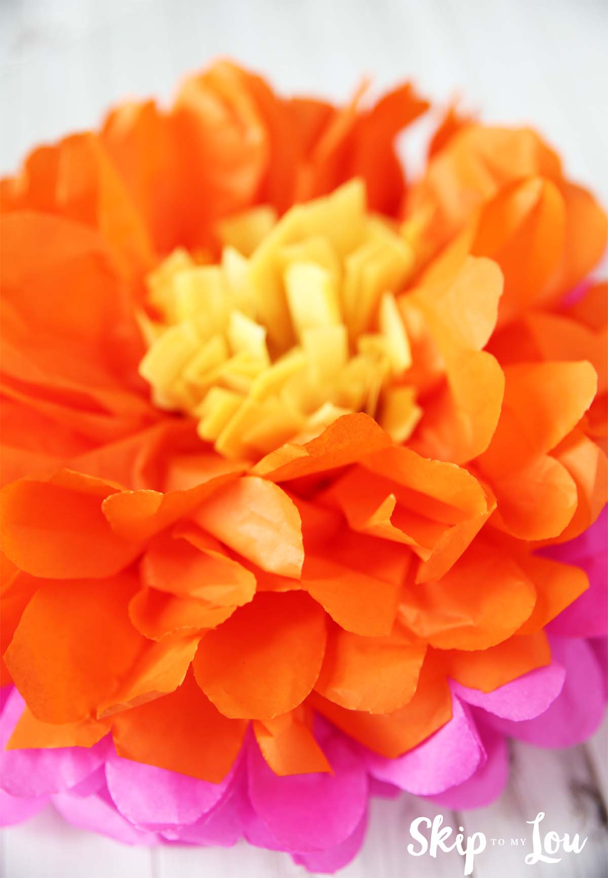 How to Make Tissue Paper Flowers | Skip To My Lou