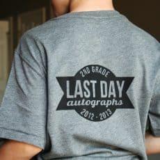 Last Day of School Shirt Printable