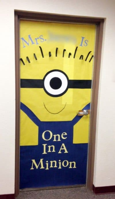 one in a minion teacher door